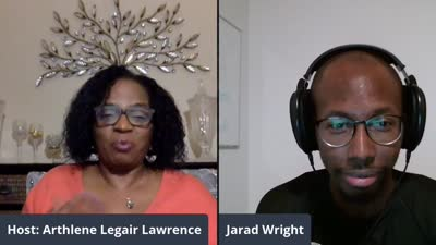 Host Athlene Lawrence interviews Jarad Wright